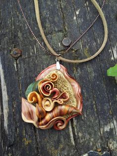 Real polymer #clay #necklace #handmade and by handmade4everyone, $22.00