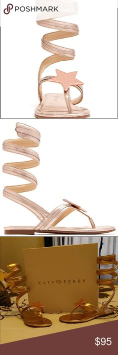 NWT Katy Perry Hayley Rose Gold Sandals These pretty much speak for themselves!!! Super cute and very stylish !! Don't find these to often!! Katy Perry Shoes Sandals