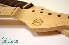 Grabado láser en madera para Franfret Guitars.
