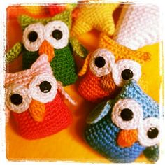 New owls !!!! Lovely colours...