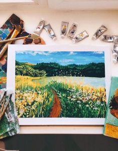 36 Ideas Landscaping Drawing Gouache - New Sites Art And Illustration, Gouache Illustrations, Gouache Painting, Painting & Drawing, Painting Inspiration, Art Inspo, Posca Marker, Posca Art, Arte Sketchbook
