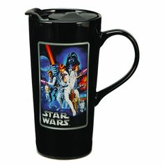 Vandor 99861 Star Wars A New Hope 20 oz Ceramic Travel Mug, Multicolor