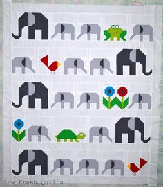 A Unique Touch For Your Scrapbook Pieced Elephant