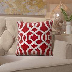 Barrault Geometric Jute Throw Pillow