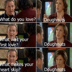 Miranda Hart doughnuts are amazing, in her defence Miranda Hart Quotes, British Comedy, British Humour, British Sitcoms, First Love, My Love, Comedy Tv, I Love To Laugh, The Funny