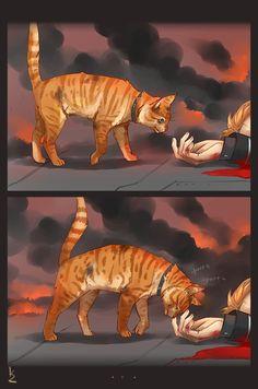– Human! Pet me, as you always do… meow!Another sketch. Idea isn't mine, but it's so sad( Ну почему я не могу в милоту!? Я тоже хочу рисовать милые стрипы с котейкой, но нет, БОЛЬШЕ ДРАМЫ БОГУ ДРАМЫ!(