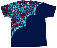 Reverse diagonal wave tie dye t-shirt.