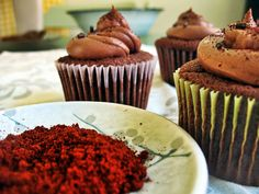 Xocolatl Cupcakes (Mexican chocolate cupcakes) via @Chef Dennis -  {A Culinary Journey}