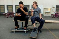 Skate style.