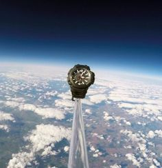The usual standard for displaying a watch\\\'s indestructibility is how deep it can go. However, Casio have sent one of their, aptly named, G-Sock Gravitymaster watches in to space.To mark the release of its new Gravitymaster watch, G-Shock has decided to put its new super-strong timepiece through its paces in ...