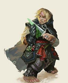 Halfling Rogue - Pathfinder PFRPG DND D&D d20 fantasy