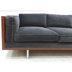 Standard Sofas - Fine Mid-Century Modern Wood Tuxedo Sofa Attributed to Milo Baughman Wood Frame Couch, Wood Sofa, Teak Wood, Mid Century Modern Couch, Mid Century Sofa, Teak Outdoor Furniture, Diy Furniture, Wooden Sofa Designs, Cool Couches
