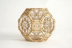 3D Laser Cut Geometric Design Architectural by ThomasHouhaDesigns. $18