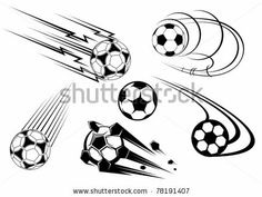 Football and soccer symbols, mascots and emblems for sports design, such a logo. Jpeg version also available in gallery by Seamartini Graphi...