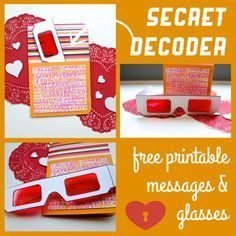 Make DIY Secret Decoder Cards! Includes a printable for secret decoder glasses!