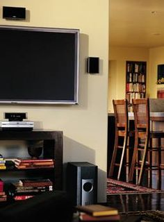 Mounting a TV and speakers on your wall is a useful, yet simplistic way to free up space in a smaller room. Let our expert installers hide all the wires for a clean and stylish look at an affordable price.