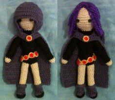 Raven, from 'Teen Titans' - amigurumi