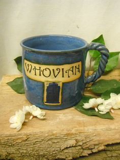 Jumbo Coffee Mug  WHOVIAN  Tardis  Geekery  by FattyFrogPots, $20.00