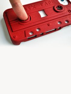 Cassette Case for iPhone 4 & 4S - Red