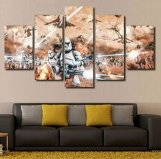 Star Wars Clone Troopers Framed Canvas - free shipping worldwide