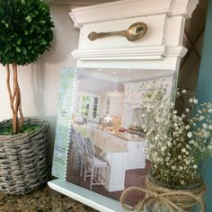 County Road 407 Ushering in summer with cool blue colors Blue Colors, Entryway Tables, Vintage Items, Kitchens, Indoor, Decorating, Cool Stuff, Summer, Home Decor