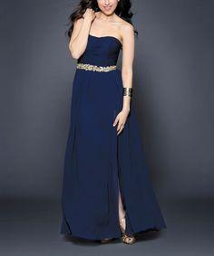 Look at this #zulilyfind! Navy Elise Gown #zulilyfinds