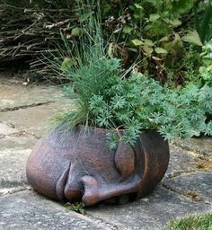 Ceramics by Anne Foxley at Studiopottery.co.uk - 2012. Large Sleeping Head