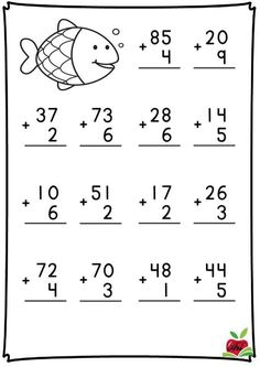 Math Addition Worksheets, Math Practice Worksheets, First Grade Math Worksheets, English Worksheets For Kids, 1st Grade Math, Kindergarten Worksheets, Kids Poems, Math For Kids, Teaching Math