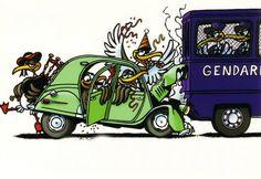 R sultat de recherche d 39 images pour humour 2cv cartoon - Dessin 2cv humour ...