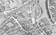 Paris 1739 Sectional map Poster Print by Michel-Etienne Turgot Tour Eiffel, Map Paris, Musee Carnavalet, Paris Ville, Us Map, Old Maps, Michel, Aerial View, Les Oeuvres