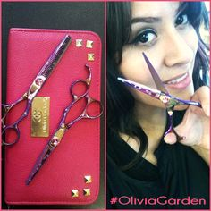 Show you care, be aware! Take Breast Cancer Awareness in your salon up a notch with our pink #SilkCut #shears!  #Reinstagram @ileanamartinez08 #OliviaGarden #BeautyTools