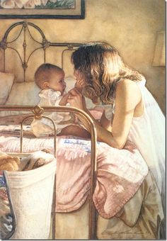 'Mother and Child Bond' ~ Steve Hanks ~  I promised myself I would do this with each of you. Get at eye level, look into your eyes, and savor each second. I'm grateful for those moments with you. I will treasure them always.