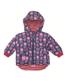 Take a look at the JoJo Maman Bébé Blue Floral Reversible Jacket - Infant, Toddler & Girls on #zulily today!