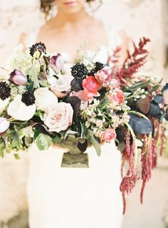 Fall flowers: http://www.stylemepretty.com/2014/11/08/southern-romance-inspiration-in-new-orleans/ | Photography: Marissa Lambert - http://marissalambertphotography.com/