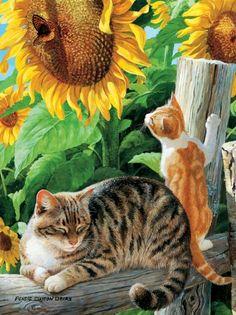 Buffalo Games Cats, Sun Seekers - 1000pc Jigsaw Puzzle Buffalo Games http://www.amazon.com/dp/B001VDEN7Q/ref=cm_sw_r_pi_dp_baHZtb0HCGESQSW7