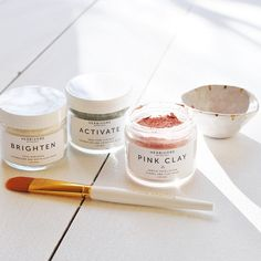 New today ✨Customized mask kits! Create the perfect blend for your skin type. All of these new mask kits include an application brush + one of a kind mixing dish made for us by @theobjectenthusiast photo by @finelifeco #herbivorebotanicals #greenbeauty #cleanbeauty #claymask #masking #naturalskincare