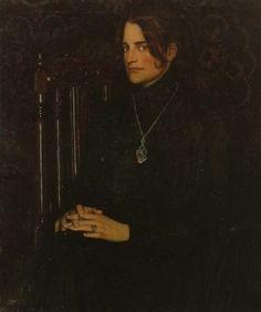 Rilke's wife Clara, Porträt von Oskar Zwintscher