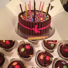 Another #kitkatcake #chocolatecreamchesse #chocolateoverloadcakes #chocolatesponge #chocolate #kitkat #kitkatcakes #mikado #smarties #minieggs #pocky #lucky #Romford #romfordcakes #essex #essexcakes #bobbierosebakery #girly #birthdaycake #cake #cupcakes #romfordcupcakes