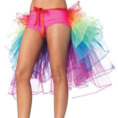 Rainbow Neon Tutu Skirt Rave Party Dance Half Bustle Burlesque Sexy Clubwear #Unbranded #MiniSkirt #Party