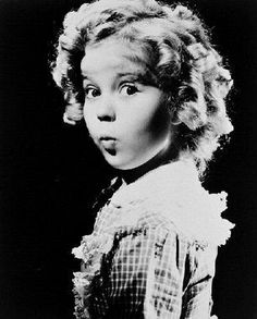 Shirley Temple B/W Looking over Shoulder  by ShannonsCollection, $14.99