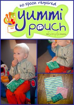 Yummi Pouch Collage logo Snack Bags, Young At Heart, Reusable Bags, Pouches, Must Haves, Spoon, Collage, Logo, Fun