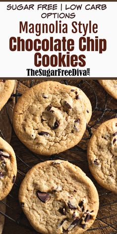 Copycat chocolate chip recipe that is just like the cookies that Joanna makes! soft and chocolaty YUM! Make this cookie recipe low in carbs. Sugar Free Cookies, Sugar Free Desserts, Sugar Free Recipes, Keto Cookies, Low Carb Desserts, Yummy Cookies, Dessert Recipes, Diabetic Cookies, Cheesecake Cookies