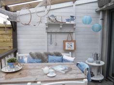 De veranda in strandstijl...