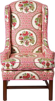 Floral Print Chairs | Fabric! One Kings Lane - Top Picks - Wingback Chair w/ Floral Print