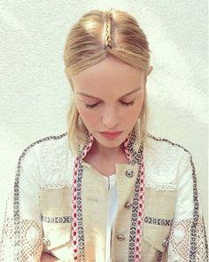 Cabelo da atriz Kate Bosworth no Coachella.