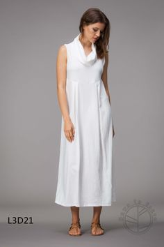 This is brand new with tags Down to Earth white linen dress with cowl neck.  It is 125cms long and is made from 50% linen, 45% rayon and 5% spandex  Measurements with item laying flat and from side to side.  Dress has a little give in it.  Size 10 bust 45cms, waist 50cms and hips 55cms  Size 12 bust 47cms, waist 52cms and hips 57cms  Size 14 bust 49cms, waist 54cms and hips 59cms  Size 16 bust 51cms, waist 56cms and hips 61cms  Size 18 bust 53cms, waist 58cms and…