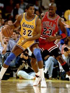 D6862 Magic Johnson vs Michael Jordan Lakers NBA Basketball Print POSTER d0a1a9cbef