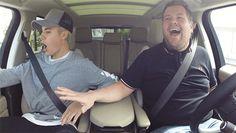 dancing justin bieber car cbs james corden carpool karaoke late late show latelateshow #gif from #giphy