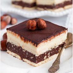 Ciasto knoppers na herbatnikach No Bake Desserts, Just Desserts, Delicious Desserts, Yummy Food, Sweet Recipes, Cake Recipes, Dessert Recipes, Crazy Cakes, Sweets Cake