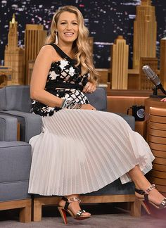 Blake Lively on The Tonight Show in NYC - July 15